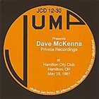 DAVE MCKENNA Private Recordings At Keyboards Lounge Fireview Park,OH May 18,1981 album cover