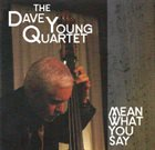 DAVE YOUNG Mean What You Say album cover