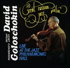DAVID GOLOSCHEKIN Live at the Jazz Philharmonic Hall album cover