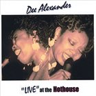 DEE ALEXANDER Live at the Hothouse album cover