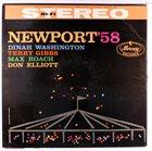 DINAH WASHINGTON Dinah Washington / Terry Gibbs / Max Roach / Don Elliott : Newport '58 album cover