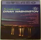 DINAH WASHINGTON For Lonely Lovers album cover