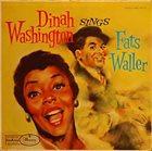 DINAH WASHINGTON Sings Fats Waller (aka The Fats Waller Songbook) album cover