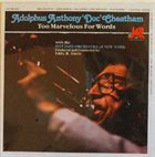 DOC CHEATHAM Too Marvelous For Words album cover