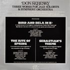 DON SEBESKY Three Works for Jazz Soloists and Symphony Orchestra album cover