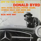 DONALD BYRD Off To The Races album cover