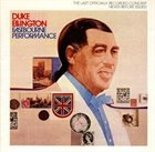 DUKE ELLINGTON Eastbourne Performance album cover