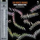 DUKE JORDAN So Nice Duke album cover