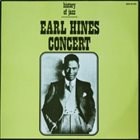 EARL HINES Earl Hines Concert album cover