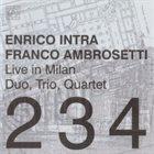 ENRICO INTRA Live in Milan - Duo, Trio, Quartet album cover