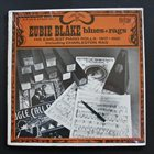 EUBIE BLAKE Blues And Ragtime album cover