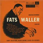 FATS WALLER Rediscovered Fats Waller Solos album cover