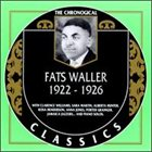 FATS WALLER The Chronological Classics: Fats Waller 1922-1926 album cover