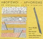 FLOROS FLORIDIS Αφορισμοί - Aphorisms (26 Statements On The Situation) album cover