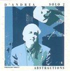 FRANCO D'ANDREA Solo 2 - Abstractions album cover