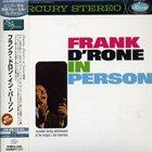 FRANK D'RONE In Person album cover