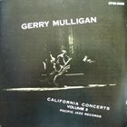 GERRY MULLIGAN California Concerts, Volume 2 album cover