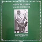 GERRY MULLIGAN New-York December 1960 album cover