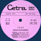 GIANNI BASSO Basso & Valdambrini Quintet : Jazz Sonorizzazioni album cover