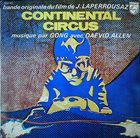 GONG Continental Circus (OST) album cover