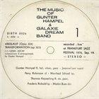 GUNTER HAMPEL Transformation album cover