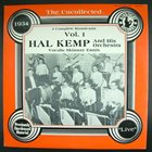 HAL KEMP The Uncollected Hal Kemp And His Orchestra Vol. 1. 1934 album cover