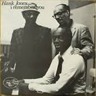 HANK JONES I Remember You album cover