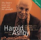 HAROLD ASHBY Just for You album cover