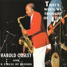 HAROLD OUSLEY That's When We Thought Of Love album cover