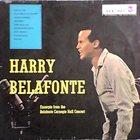 HARRY BELAFONTE Excerpts From The Belafonte Carnegie Hall Concert (aka Harry Belafonte) album cover