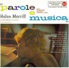 HELEN MERRILL Parole E Musica album cover