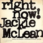 JACKIE MCLEAN Right Now! Album Cover