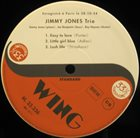 JIMMY JONES Jimmy Jones Trio album cover