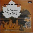 JO STAFFORD Autumn in New York album cover