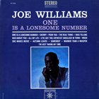 JOE WILLIAMS One Is a Lonesome Number album cover
