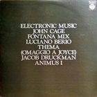 JOHN CAGE Cage  • Berio • Druckman : Electronic Music album cover