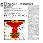 JOHN CAGE John Cage & Lejaren Hiller / Ben Johnston : HPSCHD / String Quartet No. 2 album cover