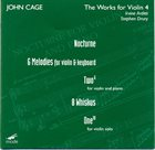 JOHN CAGE The Works For Violin 4 album cover