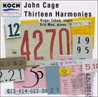 JOHN CAGE Thirteen Harmonies album cover