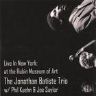 JONATHAN BATISTE Live in New York: At the Rubin Museum of Art album cover