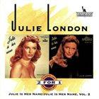 JULIE LONDON Julie Is Her Name / Julie Is Her Name, Volume 2 album cover