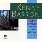 KENNY BARRON Live at Maybeck Recital Hall, Volume Ten album cover