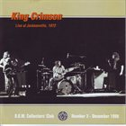 KING CRIMSON Live At Jacksonville, 1972 (KCCC 2) album cover