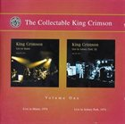 KING CRIMSON The Collectable King Crimson Volume 1 album cover