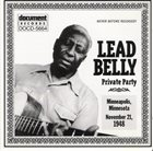 LEAD BELLY Private Party, Minneapolis, Minn., November 21, 1948 album cover