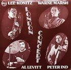LEE KONITZ London Concert album cover