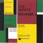 LEE KONITZ Rhapsody 2 album cover