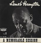 LIONEL HAMPTON A Memorable Session album cover