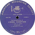 LIONEL HAMPTON The Swinging Jazz Of Lionel Hampton album cover