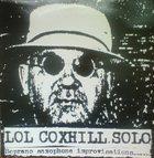 LOL COXHILL Solo / Live album cover